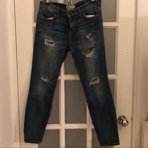 Current/Elliot Distressed Denim Jeans
